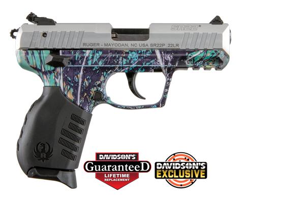 Ruger Model SR22 Pistol Semi-Auto 22LR Silver Anodized Slide