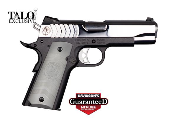 Ruger Model SR1911 Pistol Semi-Auto 9MM Polished SS Slide/ Anodized ...