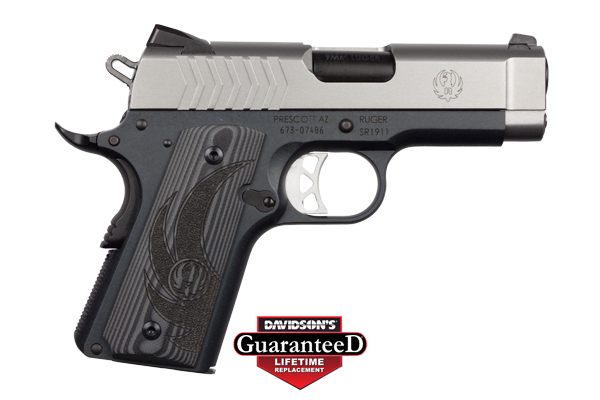 Ruger Model SR1911 Pistol Semi-Auto 9MM Low-Glare Stainless Steel Slide