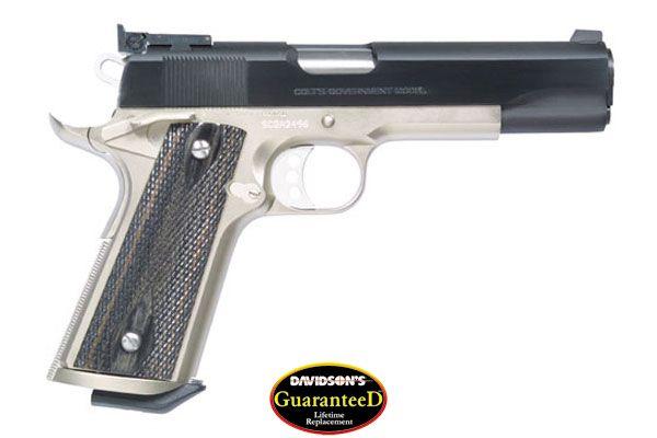 Colt Model 1911 Special Combat Government Government Pistol Semi-Auto 45AP  Blue Slide/ Satin Nickel Frame