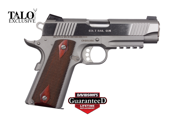 Colt Model 1911 Commander Rail Gun Pistol Semi-Auto 45AP Stainless Steel
